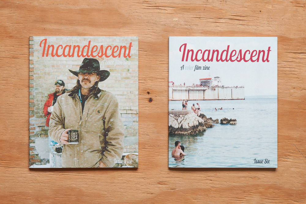 Incandescent Zine issue 5 and 6 covers