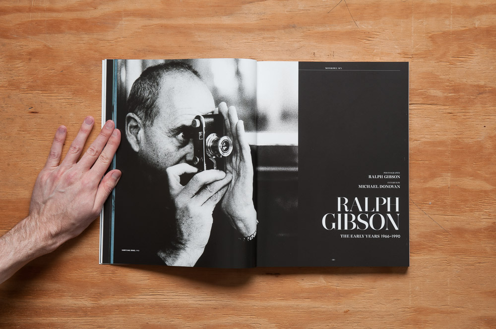 Monroe Magazine Ralph Gibson interview opening spread