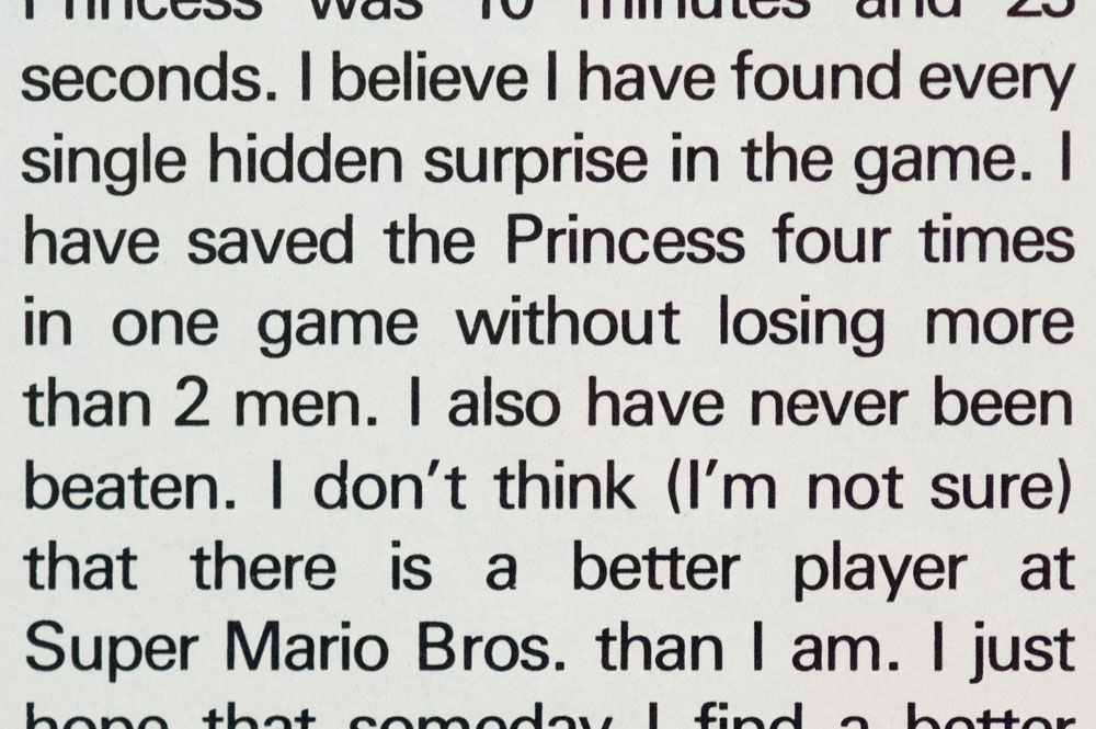 From Video Spotlight, Nintendo Power, Issue 1