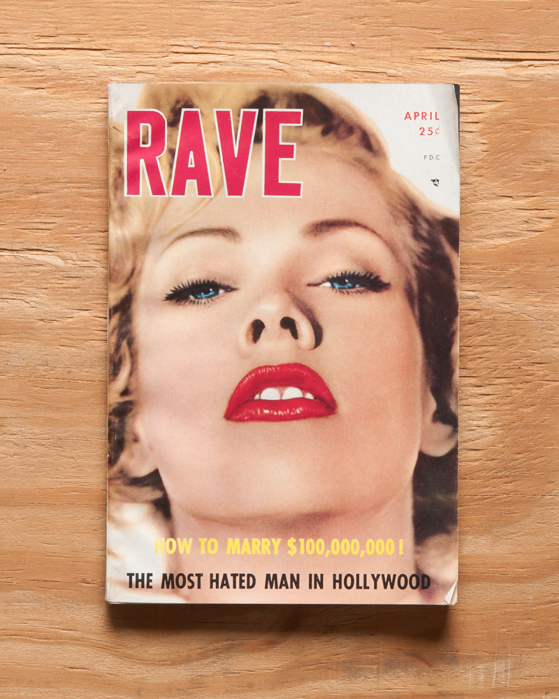 First issue of Rave Magazine with Maila Nurmi on the cover